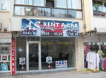 As rent a car tabelası