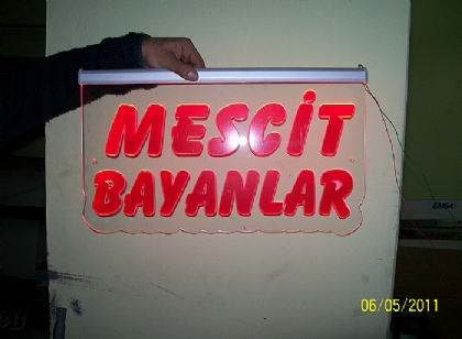 Bay Bayan mescit led tabela